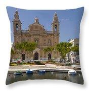 Msida Church Throw Pillow