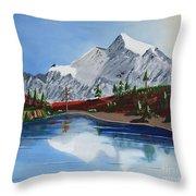 Mt Challenger Throw Pillow