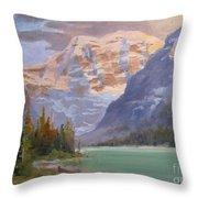Mt Edith Cavell Jasper Throw Pillow