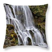 Mt Hood Cascade Throw Pillow