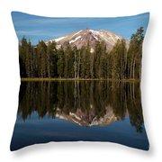 Mt Lassen In Summit Lake Throw Pillow
