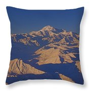 Mt. Mckinley Sunset From Above Throw Pillow
