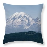 Mt. Rainier Seen From The Yakima Valley Throw Pillow