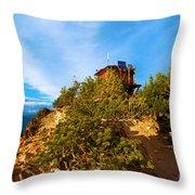 Mt Scott Fire Tower Throw Pillow