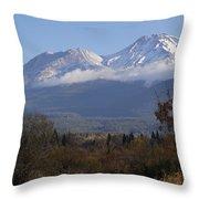 Mt Shasta Autumn II Throw Pillow