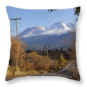 Mt Shasta Autumn Throw Pillow