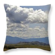 Mt Shasta On A Showery Spring Day Throw Pillow