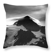 Mt Shuksan Monochrome Throw Pillow