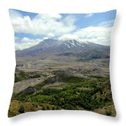 Mt St Helens 3 Throw Pillow