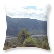 Mt St Helens Panarama Throw Pillow