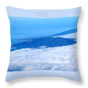 Mt Tamalpais From The Air Throw Pillow