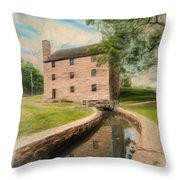 Mt. Vernon Gristmill Art Throw Pillow by Jim Moore