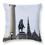 Mt. Vernon Landmarks Throw Pillow