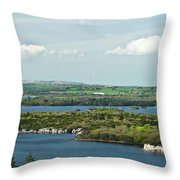 Muckross Lake From Atop Torc Waterfall 2 Throw Pillow