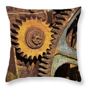 Mud Caked Gears Throw Pillow