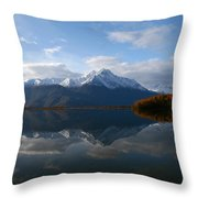 Mud Lake Reflection Throw Pillow