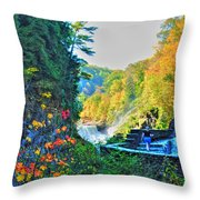 Muddy Trails Throw Pillow