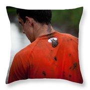 Muddy Workout Throw Pillow