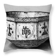 Mudejar Baptismal Font Throw Pillow