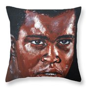 Muhammad Ali Formerly Cassius Clay Throw Pillow