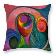 Mujer Corazon Throw Pillow
