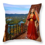 Mujer De La Piedra Throw Pillow
