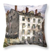 Mulberry Street, Nyc, 1873 Throw Pillow