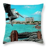 Mullet Bay Throw Pillow