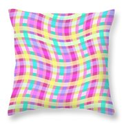 Multi Check Throw Pillow