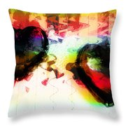 Multi Colored Hearts Throw Pillow