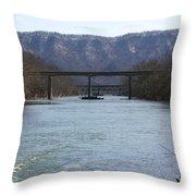 Multiple Bridges Crossing The Holston River Throw Pillow