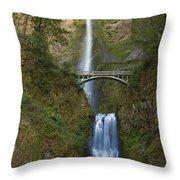 Multnomah Falls 1 Throw Pillow