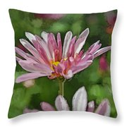 Mum Is In The Pink Digital Painting Throw Pillow