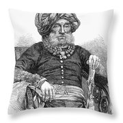 Mummadi Krishnaraja Wadiyar Throw Pillow