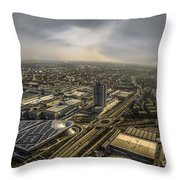 Munich From Above - Vintage Part Throw Pillow