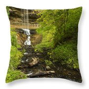 Munising Falls 1 Throw Pillow