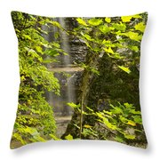 Munising Falls 4 Throw Pillow