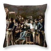 Munkacsy: Strike, 1895 Throw Pillow
