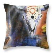 Mural Art Throw Pillow