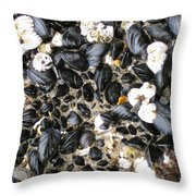 Muscles And Barnacles Throw Pillow