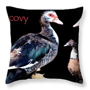 Muscovy Throw Pillow
