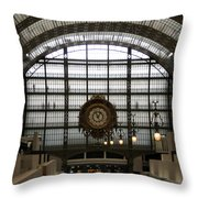 Musee D'orsay's Clock Throw Pillow