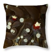 Mushroom Coral Ghost Shrimps Hiding Throw Pillow
