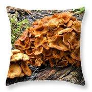 Mushroom Flower Throw Pillow