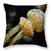 Mushroom Jellyfish Throw Pillow