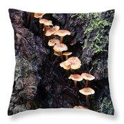 Mushroom Parade Throw Pillow