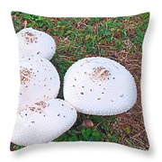 Mushroom Tops Throw Pillow