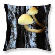 Mushrooms 3 Throw Pillow