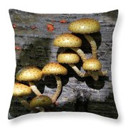 Mushrooms In Relief  Throw Pillow