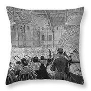 Music Festival, 1881 Throw Pillow